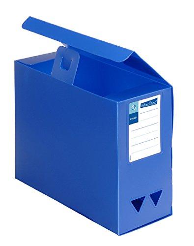 Viquel Maxi Doc - Boîte De Classement Boite de rangement Boite archive en plastique polypropylène - Boite grande capacité - dos 120 mm - Bleu