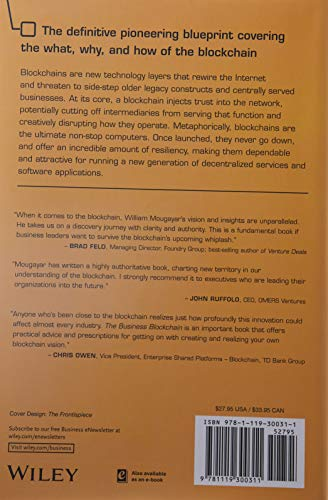 The Business Blockchain: Promise, Practice, and Application of the Next Internet Technology - 2