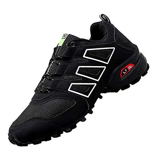 XIANV Scarpe da Trekking Uomo Donna Arrampicata Sportive All'aperto Escursionismo Sneakers (42, Nero)