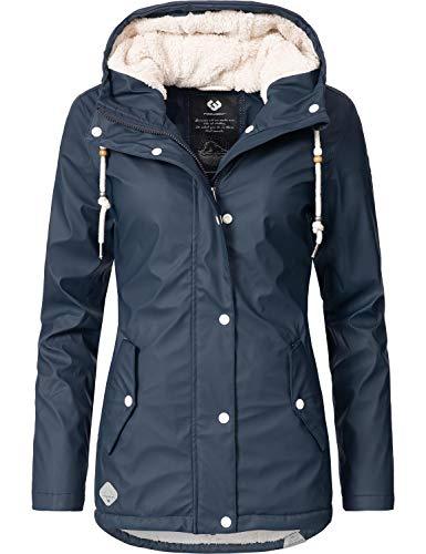 Ragwear Damen Mantel Wintermantel Regenmantel Marge Navy0818 Gr. M
