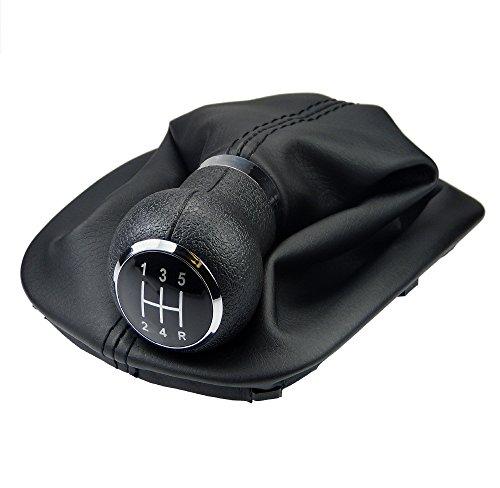 Preisvergleich Produktbild L&P Car Design GmbH 257-4 Schaltsack Schaltmanschette + Schaltknauf + Rahmen passend mit 5 Gang als Plug Play Ersatzteil