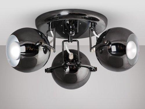 Plafoniere Minisun : Minisun lampadario da soffitto retro a 3 luci colore: nero cromato
