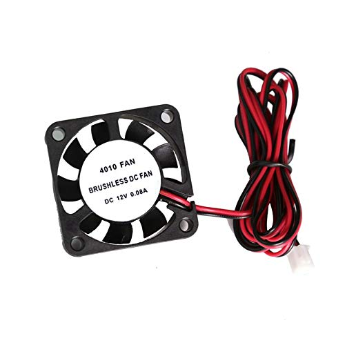 Nihlsfen 12V Brushless DC Cooling Fan 2pin for 3D Printer CPU GPU Extruder  Mini Cooling Fan Replacement Parts Cooling Heatsinks