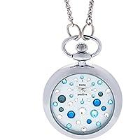 Orologio Donna, Think Positive, Modello SE W117A Star Dust, Cipollone Con Catena In Acciaio, Orologio Analogico Fashion, Blu