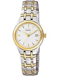 Citizen Damen-Armbanduhr Analog Quarz Edelstahl beschichtet EW1264-50A