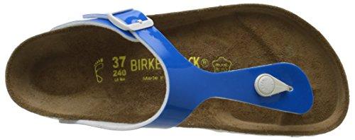 Birkenstock  Gizeh Birko-Flor, tongs femme Bleu (Vernis Neon/Blue)