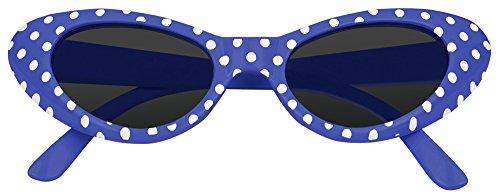 Cat Eye Brille Sandy mit Punkten - Blau
