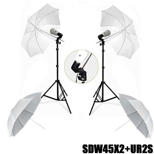 DynaSun 2x SDW45XL Studio Set Foto/Video Licht Stand mit Lampenstativ Synchronblitzlampe schwarz