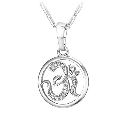 XIAOSOAnhänger Charme Halskette Zirkon Indien Hinduismus Schmuck Mode Silber/Gold Farbe Amulett Glück Geschenk Für Männer/Frauen