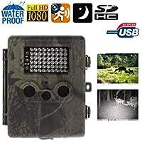 d669f9c920e3d Fotocamera caccia selvaggina Full HD 1080P a infrarossi rilevamento  movimento batteria