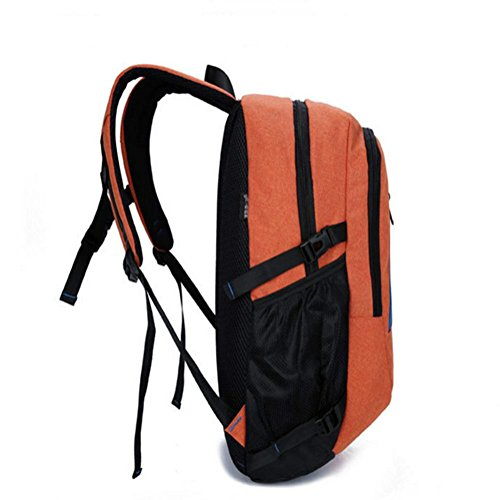 Svago semplice uomo, di grande capacità zaino esterno, borse a tracolla viaggio, borse computer, tela, zaini ampia 30com, altezza 51 centimetri, 19 centimetri di spessore , blue orange