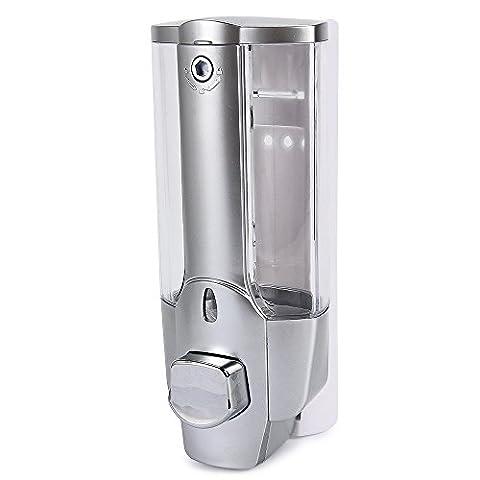 yooyoo 350ml Tête unique de salle de bain cuisine distributeur de savon liquide avec un verrou en plastique ABS Shampooing Vessel