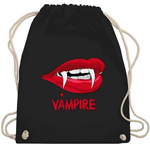 Halloween - Vampire Blut - Unisize - Schwarz - WM110 - Turnbeutel & Gym Bag (2019 Männer Halloween-kostüme Für Lustige)