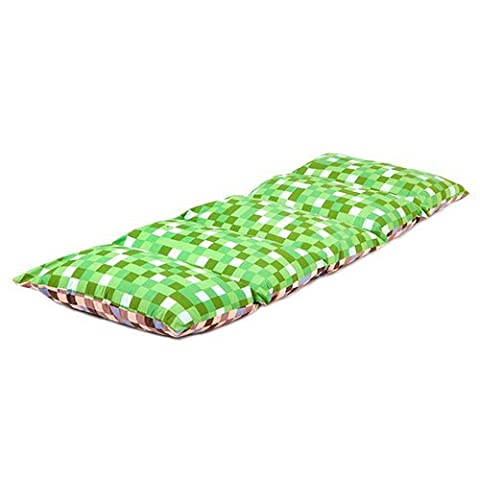 Children's Folding Pillow Sleepover Napping Mat Daybed - Pixels Green/Brown
