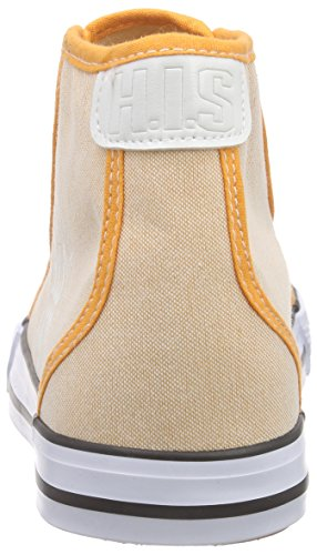 His - 158-007, Zapatillas Altas Naranjas Para Mujer (naranja (chambray Arabesco))