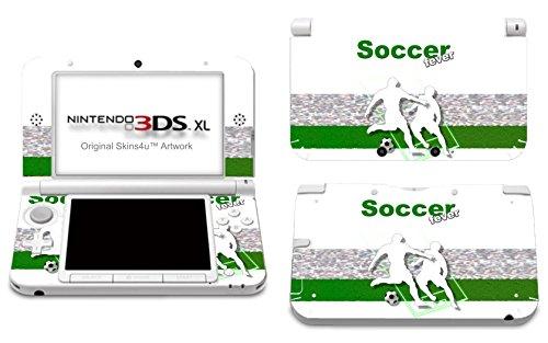 Skins4u Nintendo 3DS XL Skin Aufkleber Skin Folie Design Sticker komplett Set Schutzfolie - Fussball Soccer Fever (Komplette Fußball-sets)