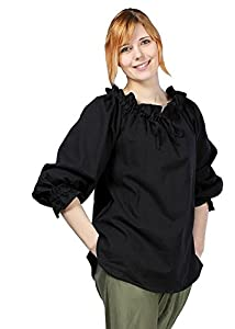 Epic Armoury- Pirate Shirt-Epic Black-XL Camisa, Color, X-Large (Iron Fortress 310502XL)