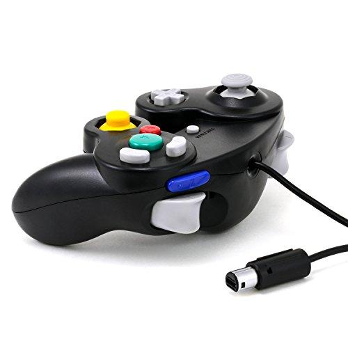 CSL - Gamepad/controlador de GameCube de Nintendo | gamepad para Nintendo Wii | efecto de vibración | negro