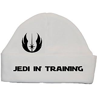 Acce Products Jedi In Training Baby Beanie Hat/Cap 0bis 12Monate Gr. XXS, weiß