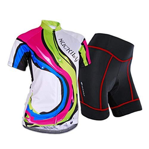 Maglia da ciclismo manica corta da donna Abbigliamento da bici da strada estivo Maglie da bici traspiranti ad asciugatura rapida Abbigliamento da mountain bike