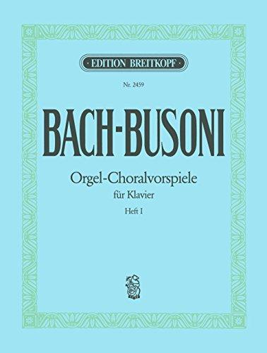 Choralvorspiele (chorals tr pour piano p...