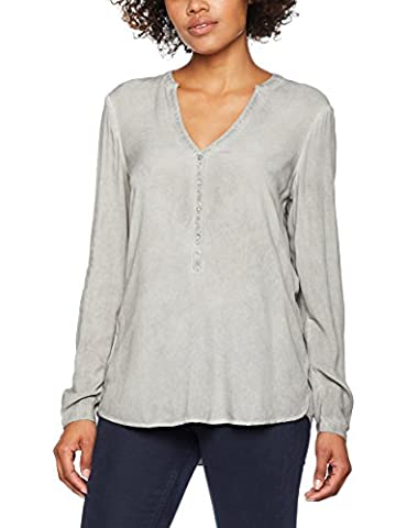ESPRIT Damen Bluse 047EE1F035 Grau (Light Grey 040),