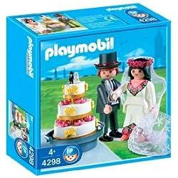 Novios Playmobil con tarta nupcial