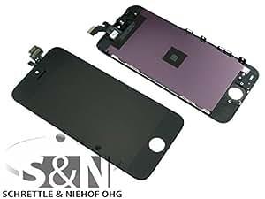 Original iPhone 5 Display Touchscreen Glas Rahmen, schwarz