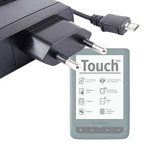 """DURAGADGET chargeur secteur pratique compact pour liseuse ebook Pocketbook Touch Lux 6"""" avec éclairage LED"""