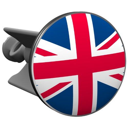 Plopp Waschbeckenstöpsel Union Jack, Stöpsel, Excenter Stopfen, für Waschbecken, Waschtisch, Abfluss