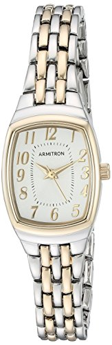Armitron Women's 75/5375SVTT Easy to Read Two-Tone Bracelet Watch