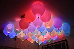 Dfs'S Premium Set Of 5 Led Balloons For Party Festival Diwali Christmas New Years Celebrations.