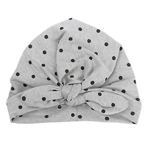Nouveau-né Bébé Noeud Lapin Pépinière Bonnet Hôpital Chapeau Pokal Dolt Imprimer Enfant Turban Headwrap pour 1-2Y Enfant
