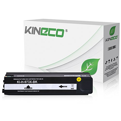 Kineco Tintenpatrone kompatibel zu HP 973X für PageWide Pro 452dn 452dw 452dwt 477dn 477dw 477dwt 552dw 577dw 577z - Schwarz -