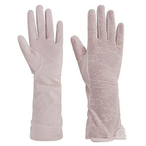 Frauen Sommer Sonnenschutz Handschuhe Touchscreen Fahrradhandschuhe Anti-Rutsch Gloves Driving Handschuhe Outdoor UV Schutz Netzhandschuhe für Motorrad Radfhren
