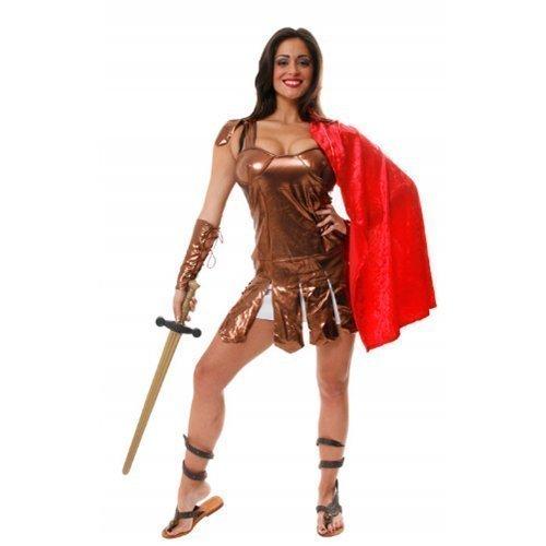 Damen Sexy Römischer Centurion GLADIATOR TOGA historisch Kostüm Kleid - Toga Für Erwachsene Damen Kostüm