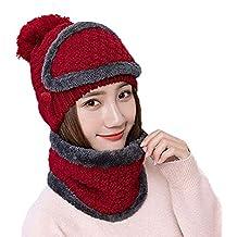 Berretto di lana Berretto in maglia con berretto in maglia Maschera rossa  Berretto in lana per 293f58e77a31