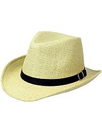 Ericcay Sombrero De Paja De De para con Hombre Verano Sombrero Estilo único  Paja Unisex Gorra 89287f9a649
