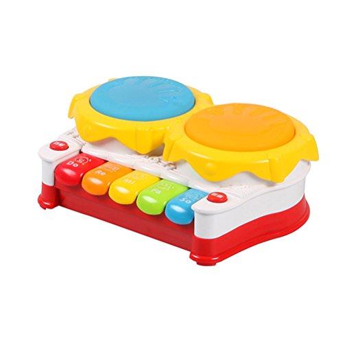 TOYMYTOY Elektronische Klaviertastatur Spielzeug Baby Kinder Musical Frühe Pädagogische Klavier Orgel Spielzeug Clap Trommel Spielzeug