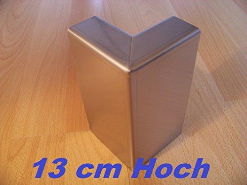 .Grünberger Metallbau Rasenkante Beeteinfassung aus Edelstahl V2A, Kiesleiste 3 Stück 90° Außenecken
