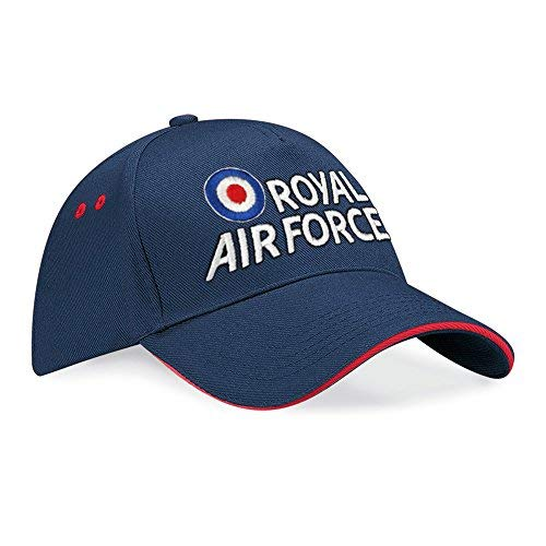 Royal Air Force Embroidered Logo Contrast Baseball Cap (Navy Red 62d5bf43be1c
