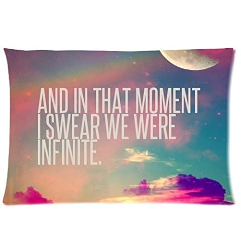Comfortable Flannel Infinity Love Custom Zippered Pillowcase 20x30 (one side) Cushion Cover Case SUNSHINEM-583