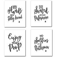 DierCosy Las Palabras Inspiradoras decoración de la Pared Pintura al óleo Lámina Conjunto de 4 Pinturas Cartel PC motivación Letras para Cuarto 21x30cm