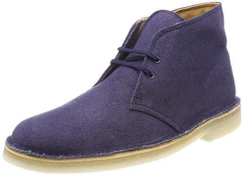 Clarks originals desert boot, polacchine uomo, blu (navy fabric), 45 eu