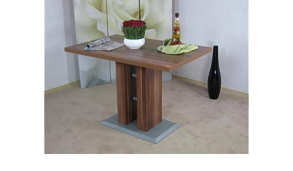 Esstisch nussbaum dunkel  Säulentisch nußbaum dunkel Esstisch Esszimmertisch Tisch ...