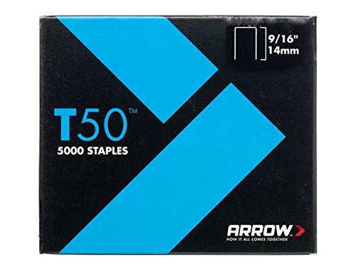 """Arrow–T50de 5000agrafes 14mm (9/16"""") (4x 1250)"""