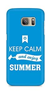 Amez Keey Calm and Enjoy Summer Back Cover For Samsung Galaxy S7 Edge