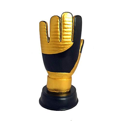 World Cup Trophy, Sport Football League Gedenkpokal Copy Version Golden Gloves Schriftzug Version - Gold -