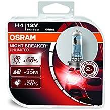 Osram OA64193NBLDUO Night Breaker Laser Lampada H4 per Auto, 12V, 60/55W, Duobox