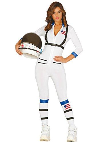 Kostüm Astronaut Girl - Magic Box Int. Frauen Space Girl White Astronaut Kostüm M/L (UK 12-14)